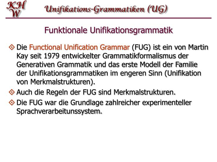 Funktionale unifikationsgrammatik