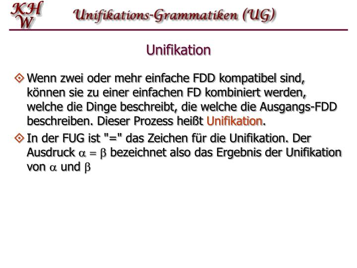 Unifikation