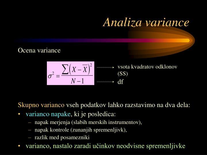 Analiza variance