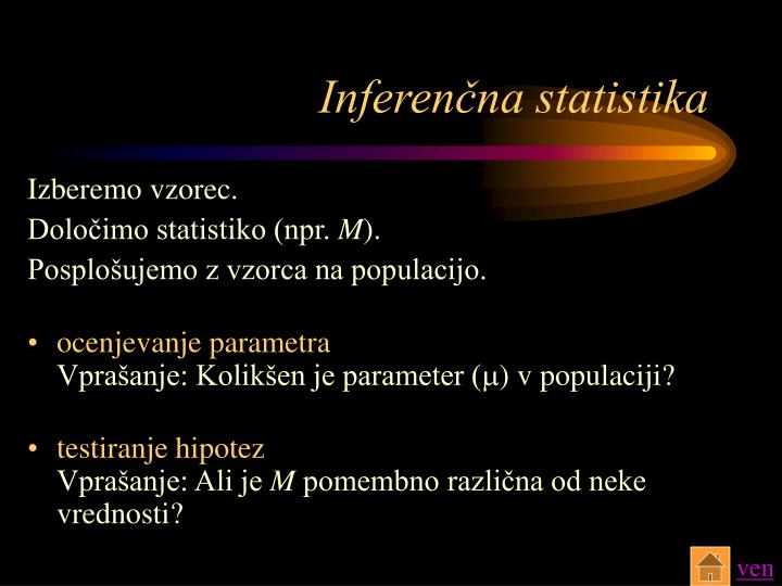 Inferenčna statistika