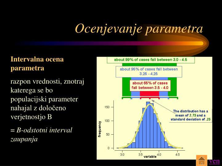 Ocenjevanje parametra
