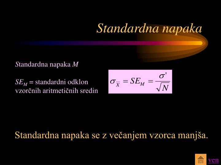 Standardna napaka