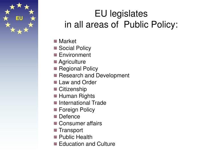 EU legislates
