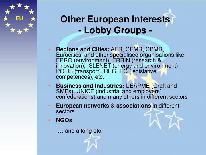 Other European Interests