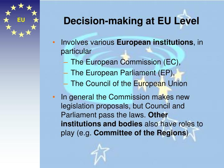 Decision-making at EU Level