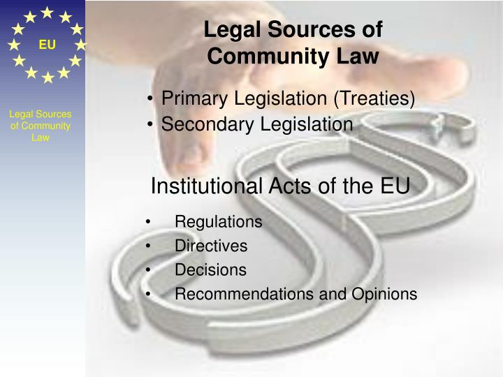 Legal Sources of Community Law