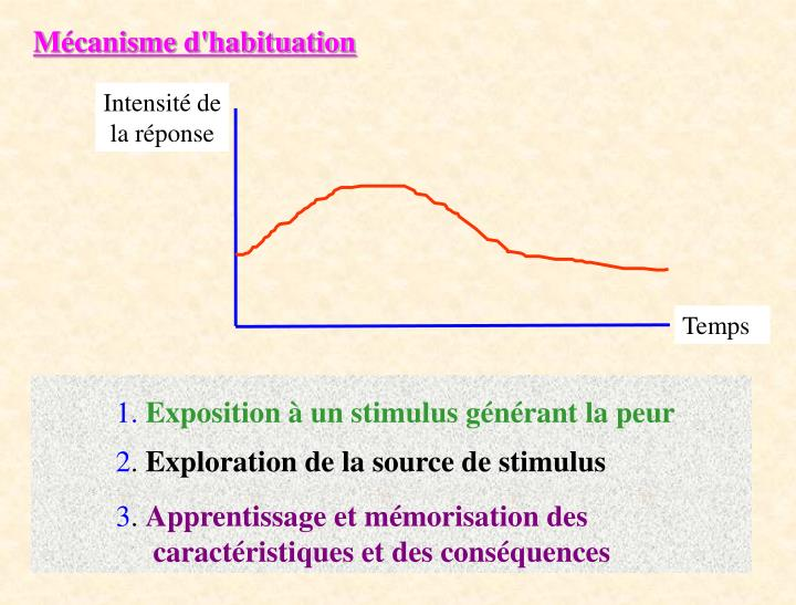 Mécanisme d'habituation