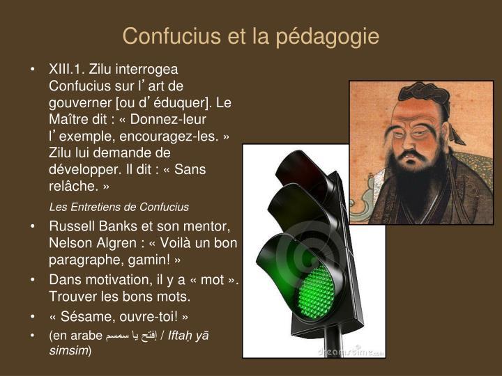 Confucius et la pédagogie