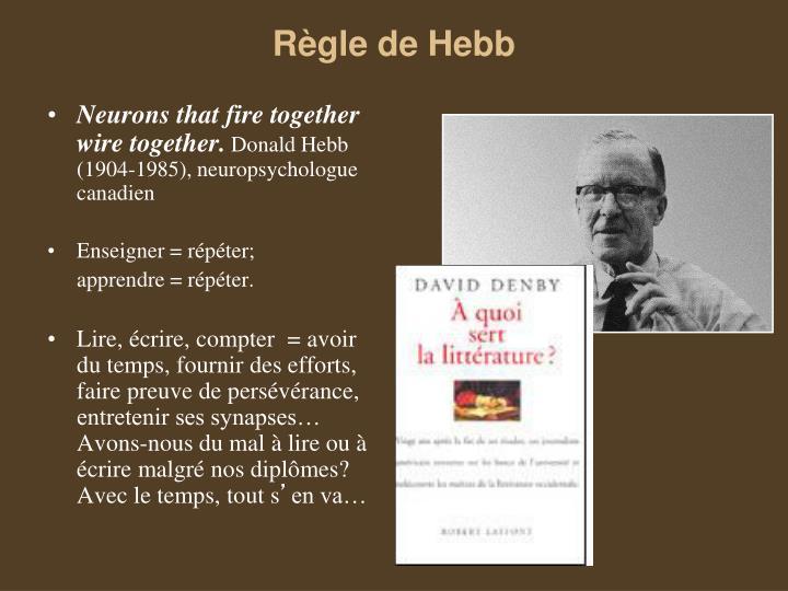 Règle de Hebb