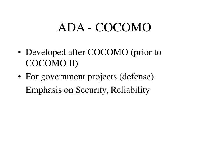 ADA - COCOMO