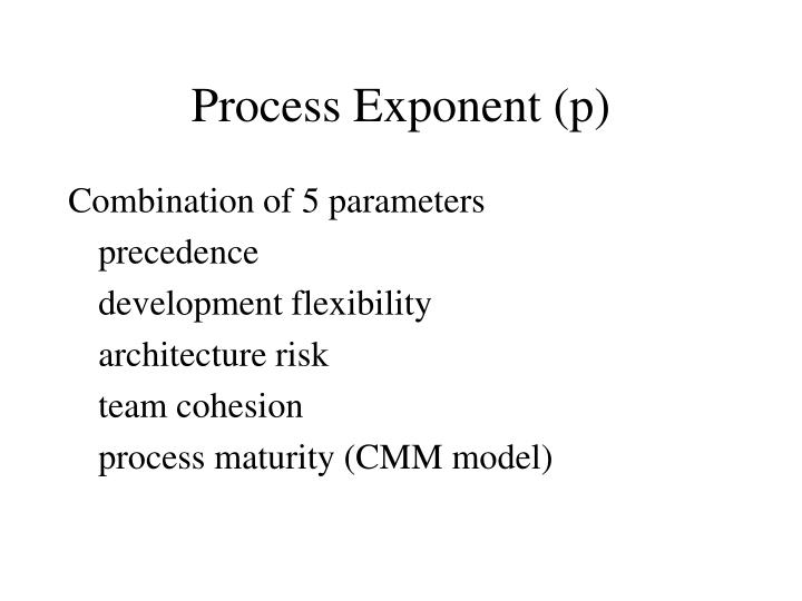 Process exponent p
