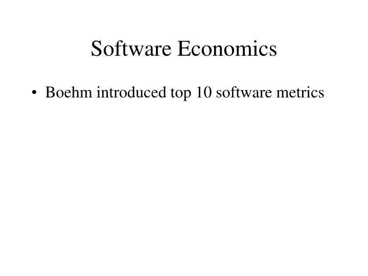 Software Economics