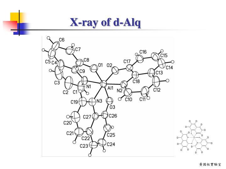 X-ray of d-Alq