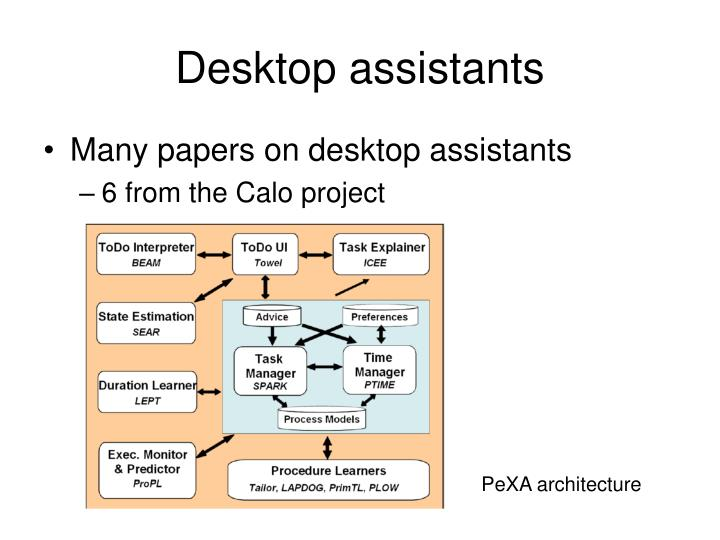 Desktop assistants