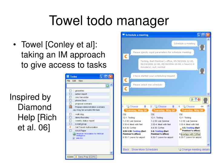 Towel todo manager