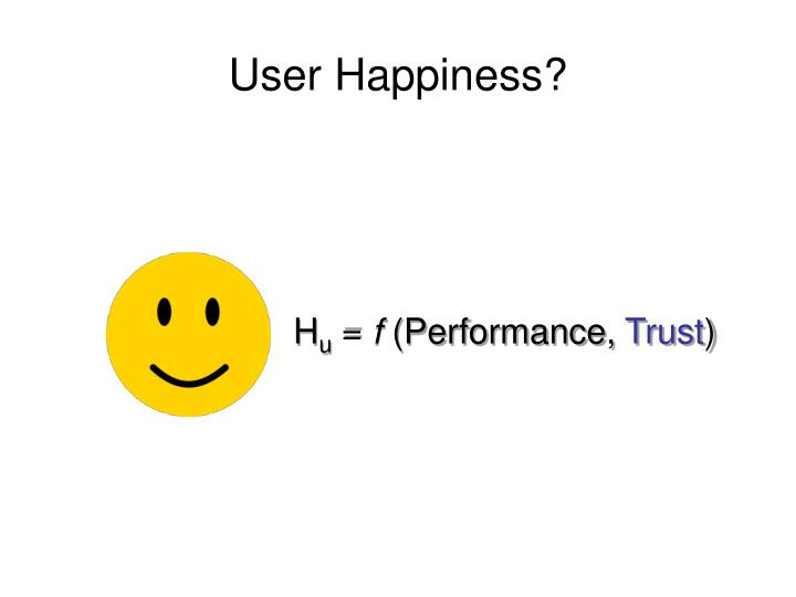 User Happiness?