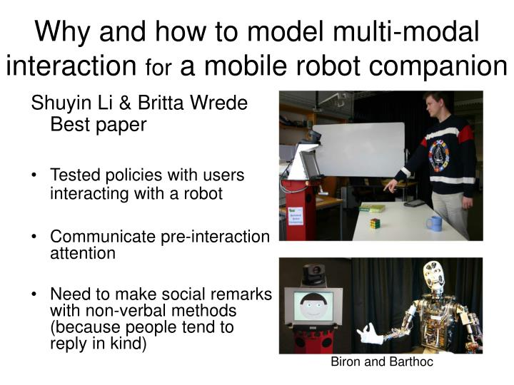 Why and how to model multi-modal interaction