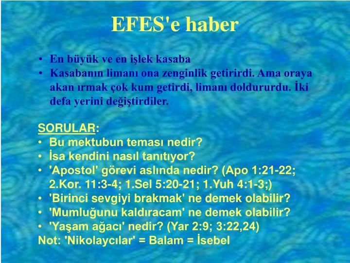 EFES'e haber