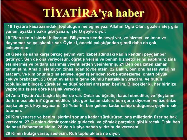 TİYATİRA'ya haber