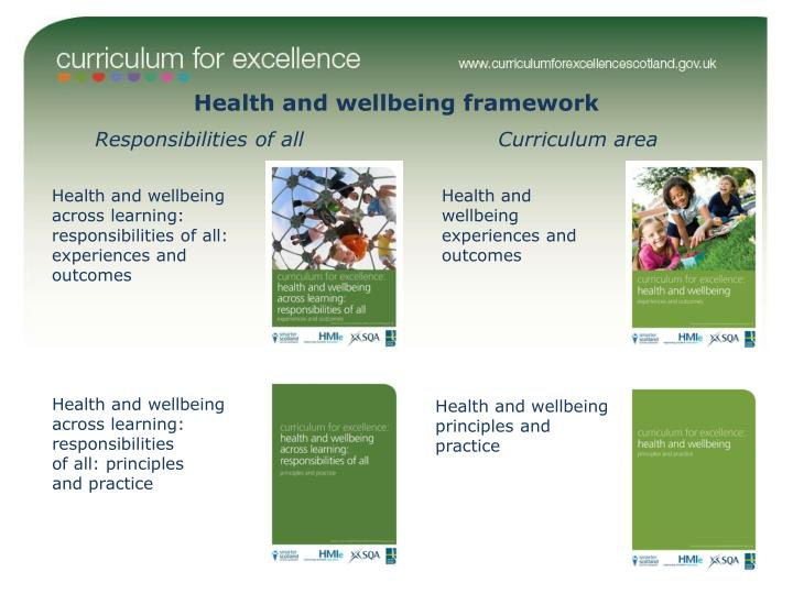 Health and wellbeing framework