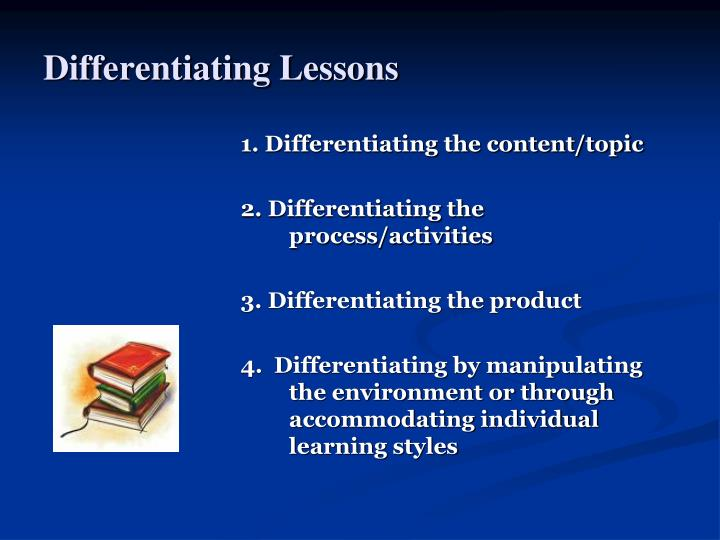 Differentiating Lessons