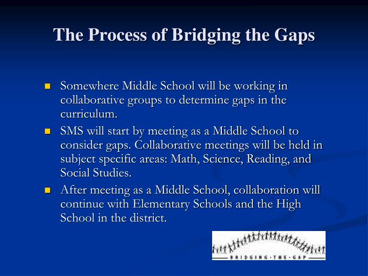 The Process of Bridging the Gaps