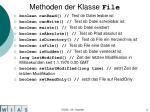 methoden der klasse file