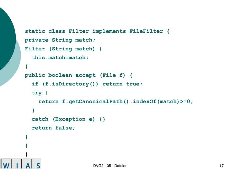 static class Filter implements FileFilter {