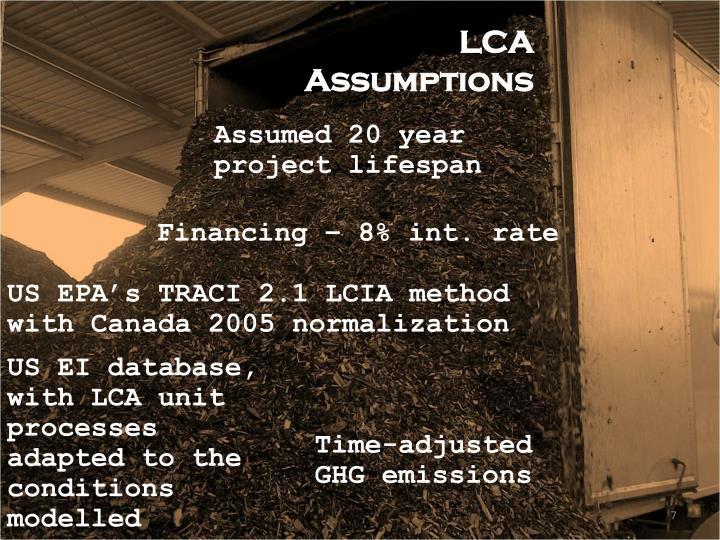 LCA Assumptions