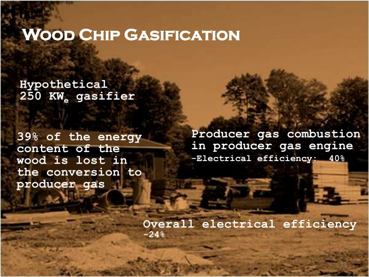 Wood Chip Gasification