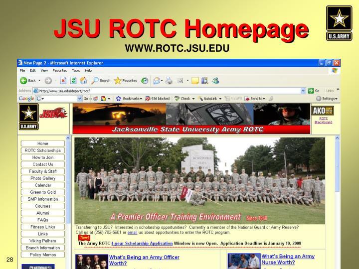 JSU ROTC Homepage