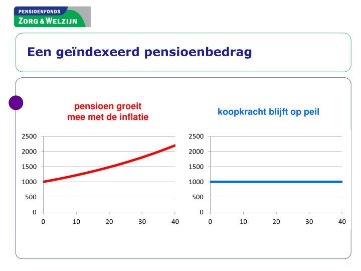 Een geïndexeerd pensioenbedrag