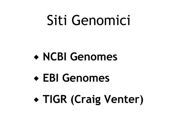 Siti Genomici