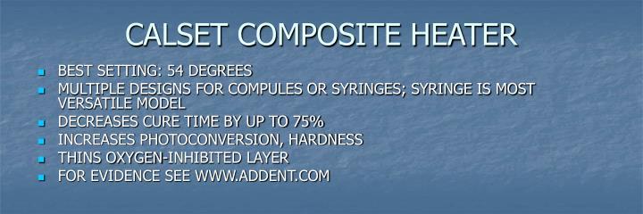 CALSET COMPOSITE HEATER