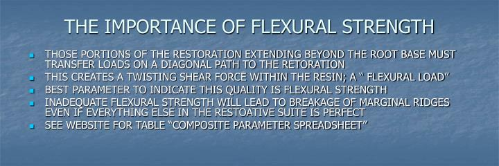 THE IMPORTANCE OF FLEXURAL STRENGTH