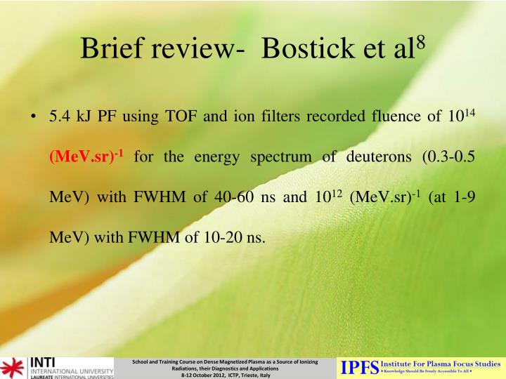 Brief review-  Bostick et al