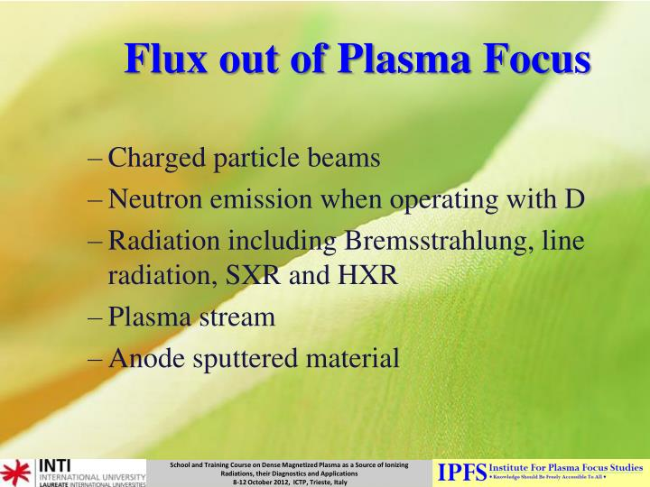 Flux out of Plasma Focus
