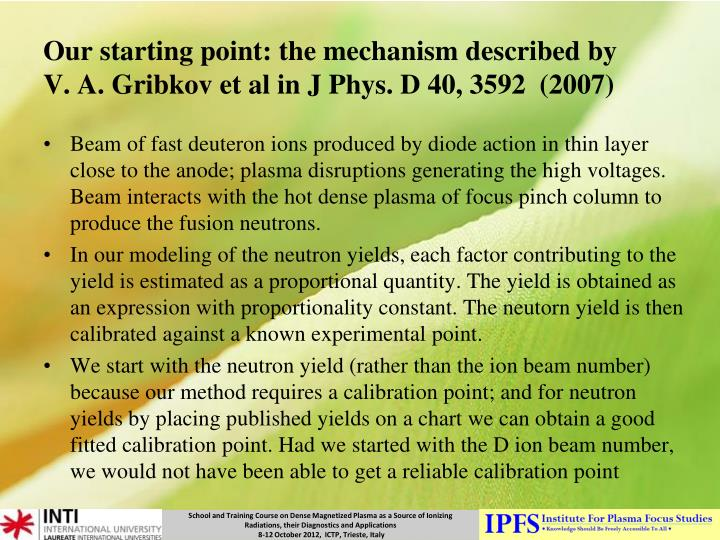 Our starting point: the mechanism described by