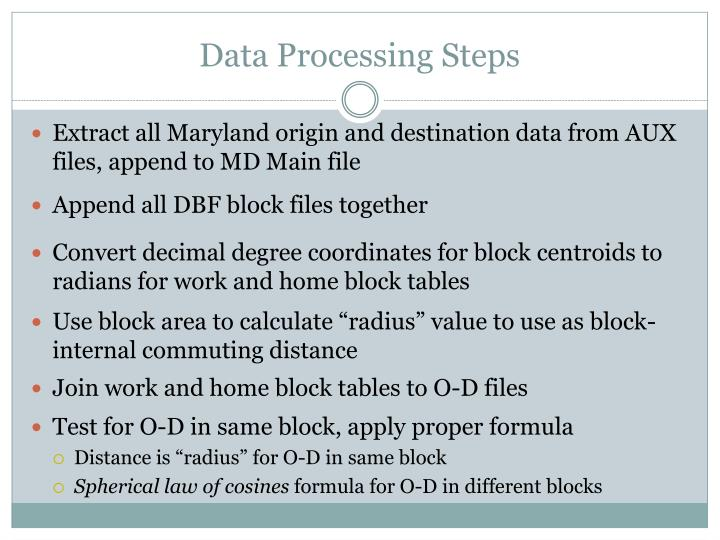Data Processing Steps