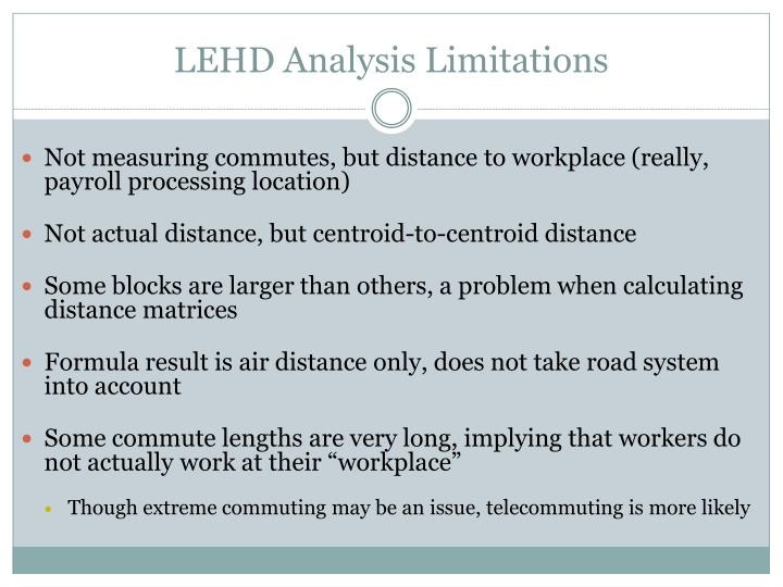 LEHD Analysis Limitations