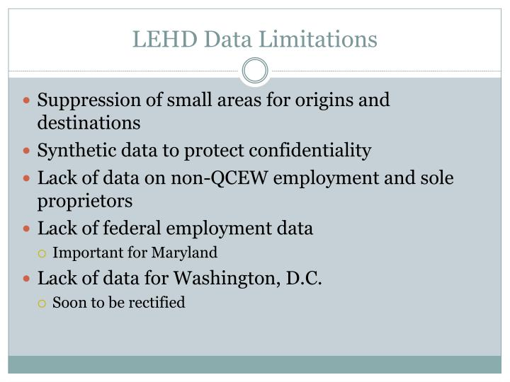 LEHD Data Limitations