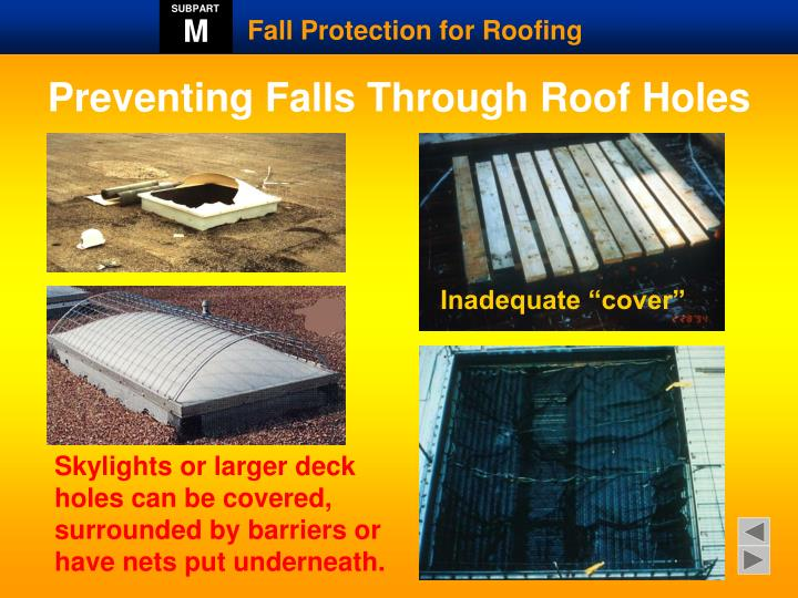 Preventing Falls Through Roof Holes
