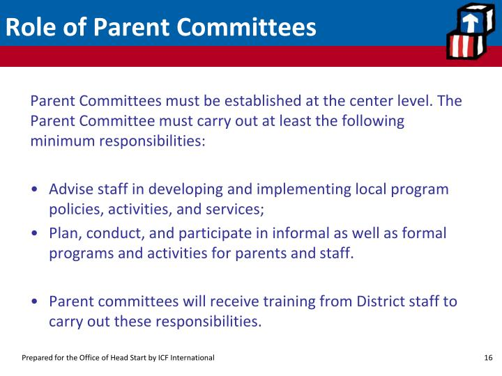 Role of Parent Committees