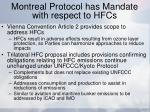 montreal protocol has mandate with respect to hfcs