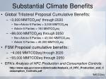 substantial climate benefits