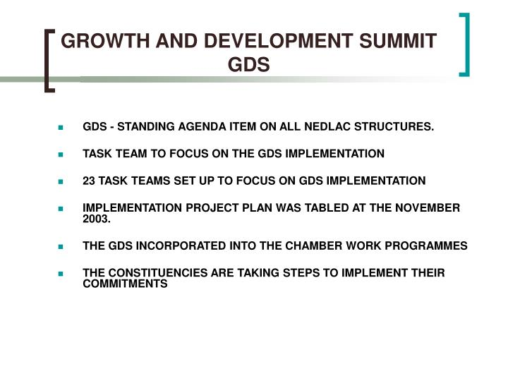 GROWTH AND DEVELOPMENT SUMMIT