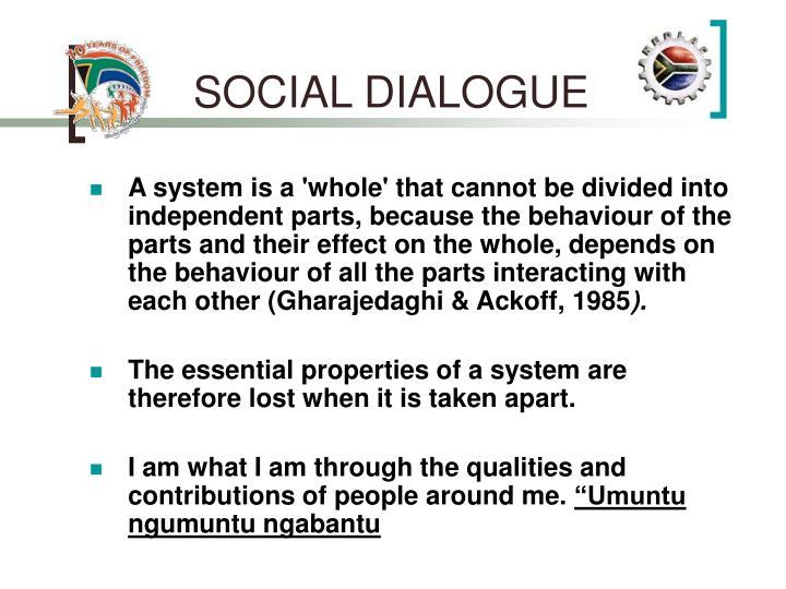 SOCIAL DIALOGUE