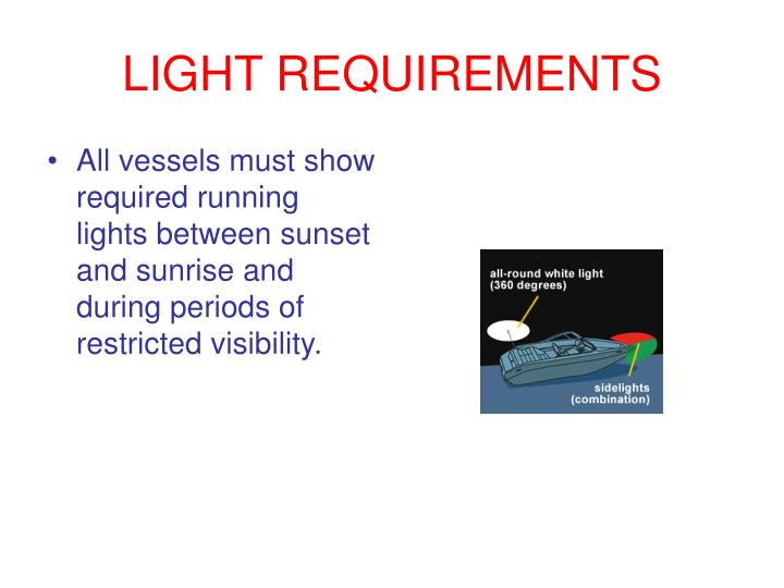 LIGHT REQUIREMENTS