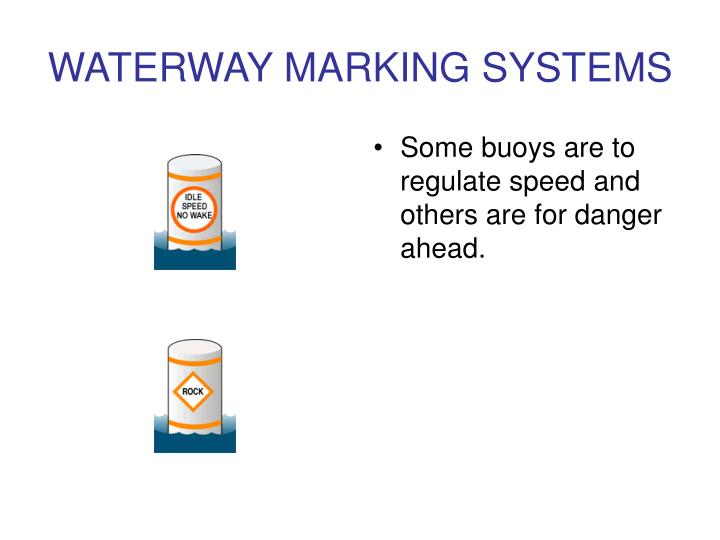 WATERWAY MARKING SYSTEMS