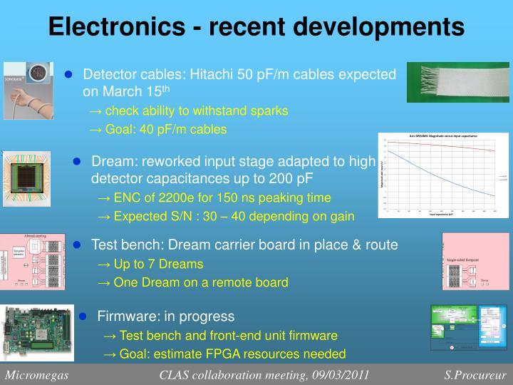 Electronics - recent developments